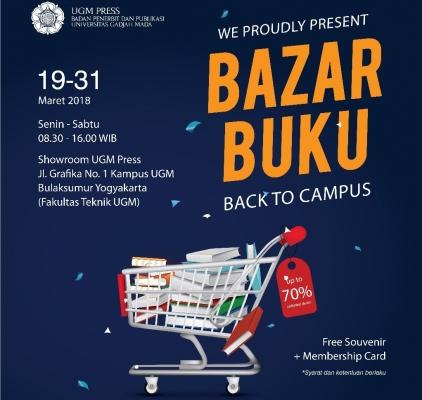 UGM PRESS Gelar Bazar Buku: Back to Campus 2018