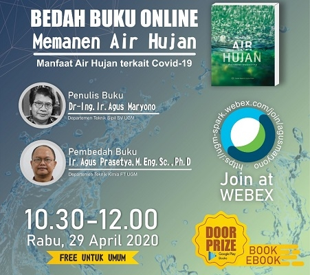 """Online Book Discussion """"Harvesting Rainwater: Benefits of Rainwater Related to Covid-19"""""""