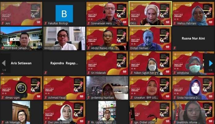 "Perpustakaan Fakultas Biologi UGM bekerjasama dengan UGM Press mengadakan Bedah Buku Virtual ""Karakterisasi dan Keanekaragaman Genetik Ayam Lokal Indonesia"""