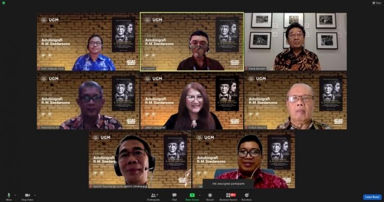 Launching  dan Bedah Buku Autobiografi R. M. Soedarsono Perintis dan Pengembang Pendidikan Seni Pertunjukan di Indonesia  Dari Yogyakarta Mendunia untuk Indonesia